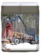 Unloading Firewood 2 Duvet Cover