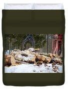 Unloading Firewood 3 Duvet Cover