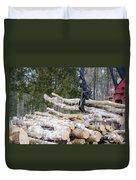 Unloading Firewood 4 Duvet Cover