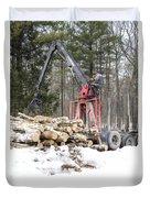 Unloading Firewood 5 Duvet Cover