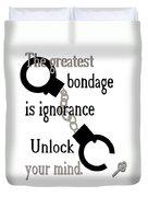 Unlock Your Mind Duvet Cover