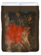 Untitled Abstract - Umber With Scarlet Duvet Cover