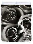 Bw Rose Bouquet 2 Duvet Cover