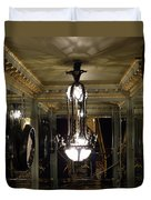 Unusual Lighting Fixture In Laduree On The Champs De Elysees Duvet Cover