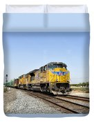 Up 8587 Southbound From Traver Duvet Cover