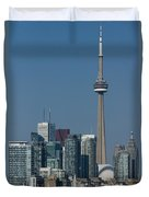 Up Close And Personal - Cn Tower Toronto Harbor And Skyline From A Boat Duvet Cover
