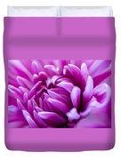 Up-close Flower Power Pink Mum  Duvet Cover