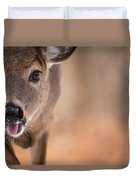 Up Close White Tail Duvet Cover