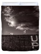 Up One Duvet Cover by Bob Orsillo