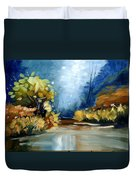 Up The Creek Duvet Cover