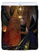 Up The Down Escalator Duvet Cover