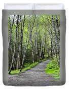 Up The Trail Duvet Cover