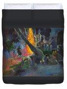 Upa Upa.the Fire Dance Duvet Cover