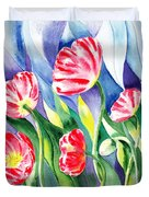 Upcoming Wind Poppy Field Duvet Cover by Irina Sztukowski