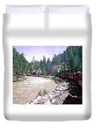 Uphill To Silverton Duvet Cover