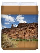 Upper Colorado River View Duvet Cover