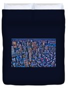 Upper East Side Skyline Duvet Cover