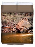 Upper Emerald Pools At Zion National Park Duvet Cover