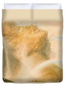 Upper Fall Of The Reichenbach - Rainbow Duvet Cover