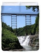 Upper Falls Of The Genesee River  Duvet Cover