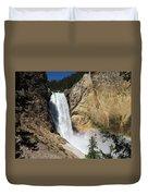 Upper Falls Yellowstone National Park Duvet Cover