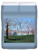 Upper Rapids Of Niagara Falls Ny Duvet Cover