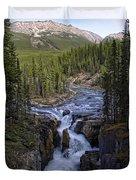 Upper Sunwapta Falls - Canadian Rockies Duvet Cover