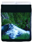 Upper View Of Narada Falls Duvet Cover