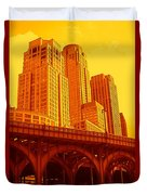 Upper West Side And Hudson River Manhattan Duvet Cover