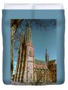 Uppsala Cathedral Spires  Duvet Cover