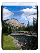 Upriver In Washake Wilderness Duvet Cover