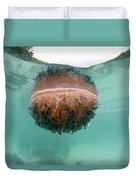 Upside-down Jellyfish Cassiopea Duvet Cover