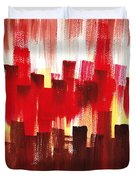 Urban Abstract Evening Lights Duvet Cover