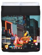 Urban Abstract Nashville Neon Duvet Cover by Dan Sproul