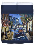 Urban Avenue By Prankearts Duvet Cover by Richard T Pranke