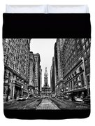 Urban Canyon - Philadelphia City Hall Duvet Cover