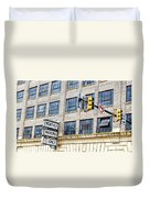 Urban Garage Monthly Parking Only Duvet Cover