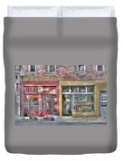 Urban Mercyseat Oil Painting Duvet Cover