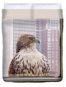 Urban Red-tailed Hawk Duvet Cover