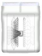 Urban Skyscrapers Duvet Cover by Nenad Cerovic