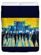 Urban Story - The Romanian Revolution Duvet Cover