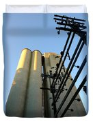 Urban Towers And Poles Duvet Cover