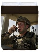 U.s. Air Force Soldier Communicates Duvet Cover