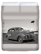 Us Army Dodge Staff Car Duvet Cover