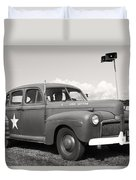 Us Army Ford Staff Car  Duvet Cover
