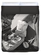 Us Army Rations Duvet Cover