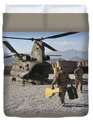 U.s. Army Sergeant Helps Unload Band Duvet Cover