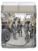U.s. Army Soldiers Jump Start A Light Duvet Cover