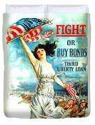 Fight Or Buy Bonds Duvet Cover