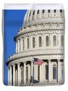Us Capitol Building Duvet Cover